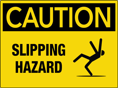 Slipping Hazard Sign