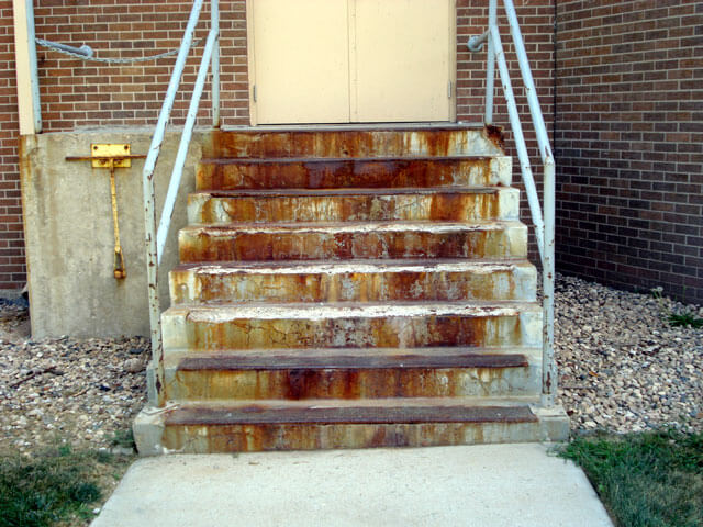 Concrete Step Repair - Before