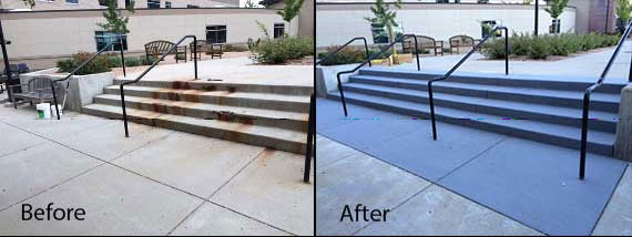 Repaired Steps Before and After
