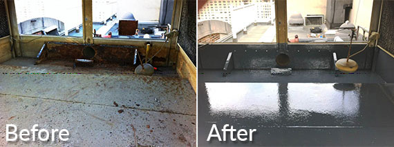 Cooling Tower Repair Before and After