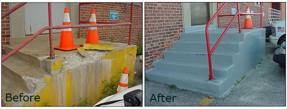 ENECRETE Repairs Concrete Steps