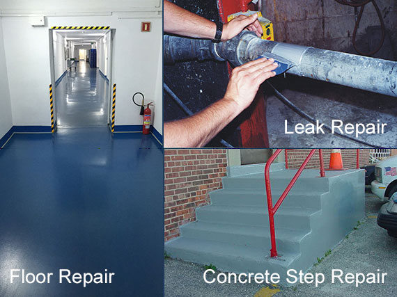 Floor Repair, Concrete Step Repair, Leak Repair